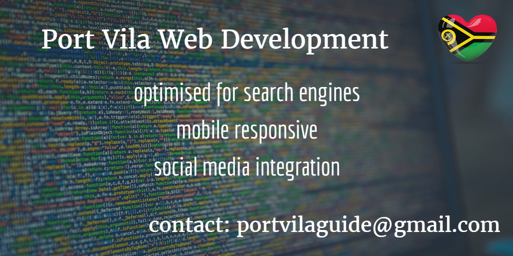 port vila web development port vila web design vanuatu